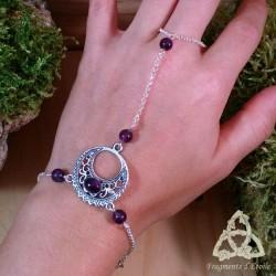 Bracelet de main Luna Astara - Améthyste
