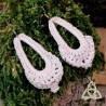 Boucles d'oreilles Larme de Rêve - Blanc