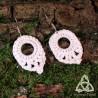 Boucles d'oreilles Goutte de Rêve - Blanc