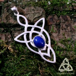 Pendentif Lelyan Argent massif - Lapis Lazuli