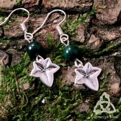Boucles d'oreilles Sarya Lierre - Malachite