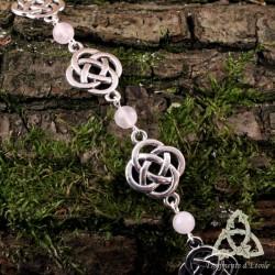 Bracelet Fylenwe Noeuds celtiques - Quartz Rose