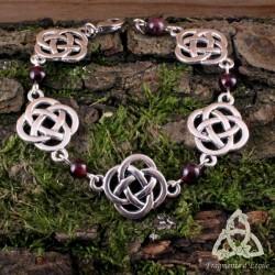 Bracelet Fylenwe Noeuds celtiques - Grenat