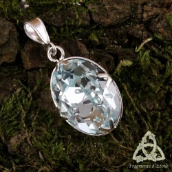 Pendentif Cristal des Fées Argent massif - Aurore