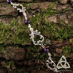Bracelet Aelwen volutes elfiques - Améthyste
