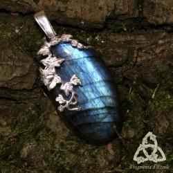 Pendentif Sylvae Argent massif - Labradorite bleu clair