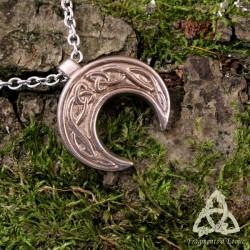 Collier Celtic Moonligth - Lune et entrelacs celtiques
