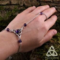 Bracelet de main Keryan Triquetra Celtique - Améthyste