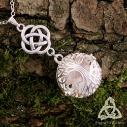 Collier Arbre aux Elfes  - Quartz Rose