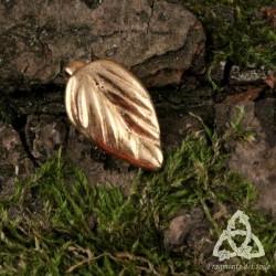 Pendentif Naëlle petite Feuille Dorée