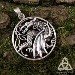 Pendentif Draconnis Dragon Celtique Argent massif