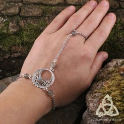 Bracelet de main Luna Astara - Labradorite