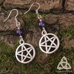 Boucles d'oreilles Magie des Sorcières - Améthyste