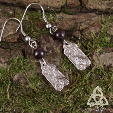 Boucles d'oreilles Onirium Ornament - Grenat