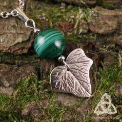 Collier Yvilyn Feuille de Lierre - Malachite