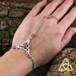 Bracelet de main Keryan Triquetra Celtique - Labradorite