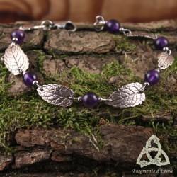 Bracelet Morelyan Feuilles de Menthe - Améthyste