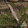 Bracelet Aislin entrelacs et feuilles elfiques - Améthyste
