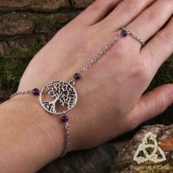 Bracelet de main Miryel Arbre de Vie - Améthyste