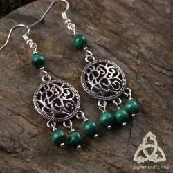 Boucles d'oreilles Souffle des Druides - Malachite
