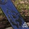 Marque page cuir Loup et Lune - Bleu nuit et Noir