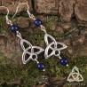 Boucles d'oreilles Neryn Triquetra Celtique - Lapis Lazuli