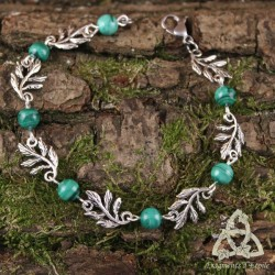 Bracelet Eldaryn Feuilles Elfiques - Malachite