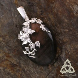 Pendentif Sylvae Argent massif - Labradorite cuivrée