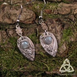 Boucles d'oreilles Sous le Chêne des Druides - Labradorite