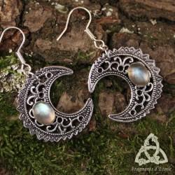 Boucles d'oreilles Luna Astara - Labradorite