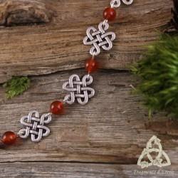 Bracelet Oryana Noeuds celtiques - Cornaline