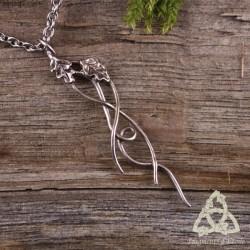 Collier Ondolya Ondulations elfiques - feuilles de Chêne