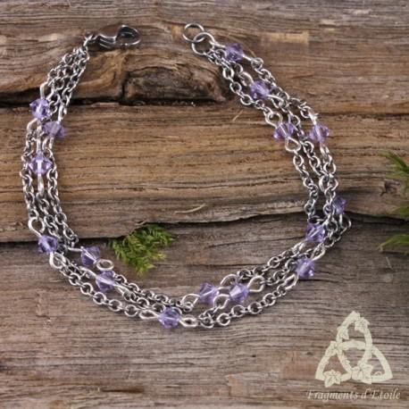 Bracelet Cascade aux Fées - Cristal violet