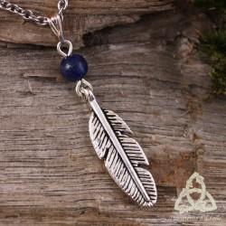 Collier Plume et Magie - Lapis Lazuli