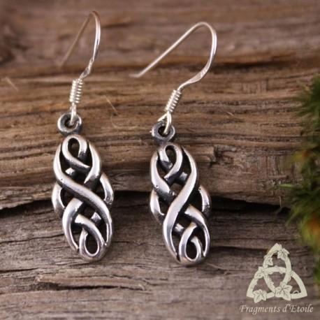 Boucles d'oreilles Kaelshee entrelacs celtiques - Argent massif