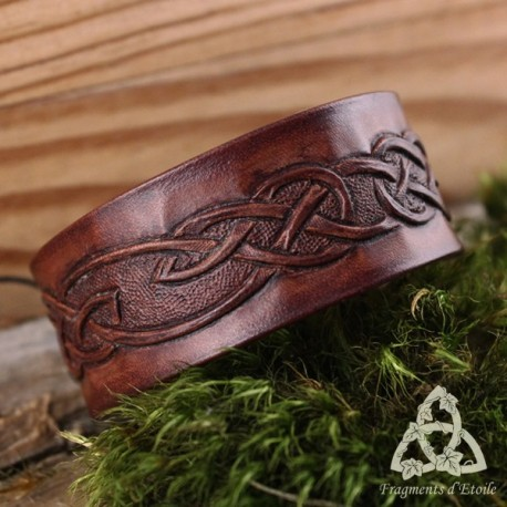 Bracelet Cuir Arkerian - marron foncé