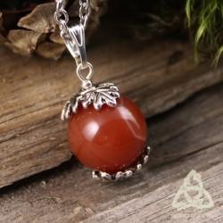 Collier Talisman des Druides - Agate rouge