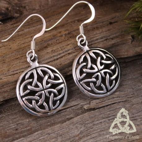 Boucles d'oreilles Talelh entrelacs celtiques  - Argent massif