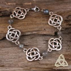 Bracelet Fylenwe Noeuds celtiques - Labradorite
