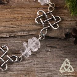 Bracelet Idriel entrelacs celtiques - Cristal de Roche