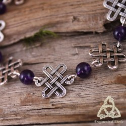 Bracelet Oryana Noeuds celtiques - Améthyste