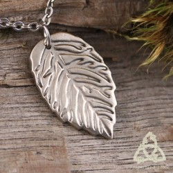 Collier Fairy White Leaf Blanche feuille de fée