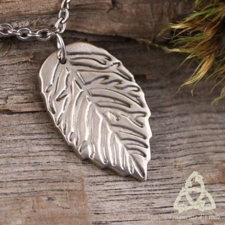 Collier Fairy White Leaf Blanche feuille de fée