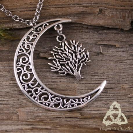 Collier Nuit des Simples - Lune et Arbuste
