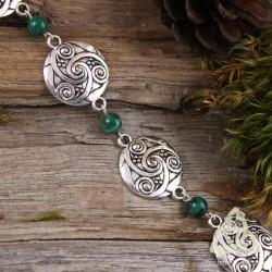 Bracelet Nellewen Triskell - Malachite