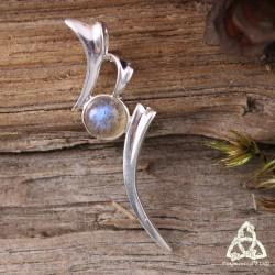 Pendentif elfique Isore Argent massif - Labradorite