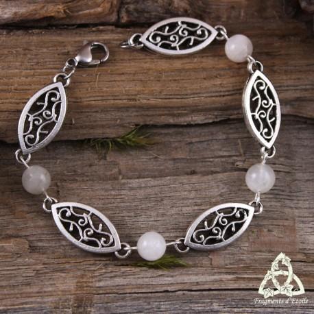 Bracelet Astérya navettes et volutes - Pierre de Lune