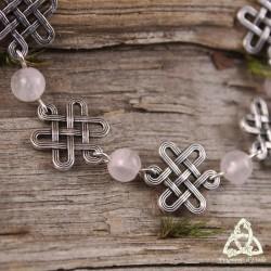 Bracelet Oryana Noeuds celtiques - Quartz Rose