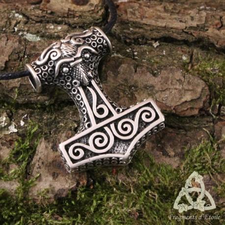 Pendentif Mjolnir marteau de Thor Argent massif