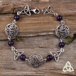Bracelet Kalya volutes elfiques - Améthyste